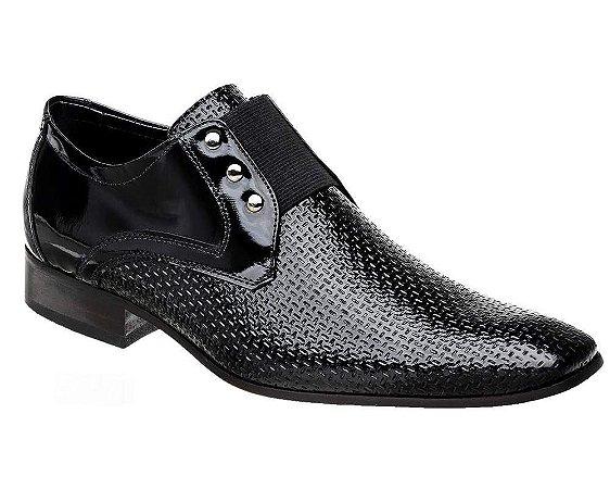 Sapato Masculino em Couro Verniz Preto Bigioni