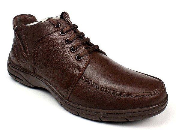 Sapato Abotinado Masculino Veloster Couro Natural