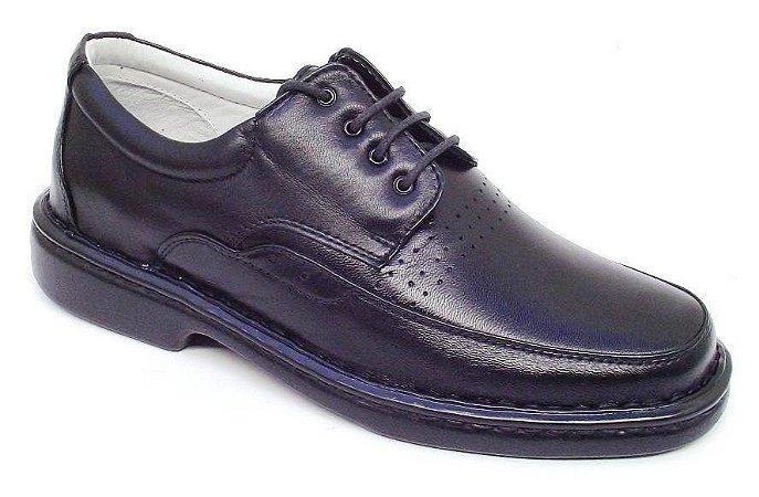 Sapato Confort Masculino de Amarrar Linha Relax Sapatos Franca