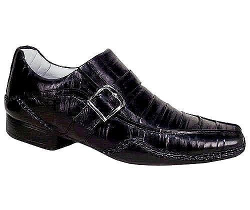Sapato Masculino em Couro cor Havana ou Preto Alcalay Calçados
