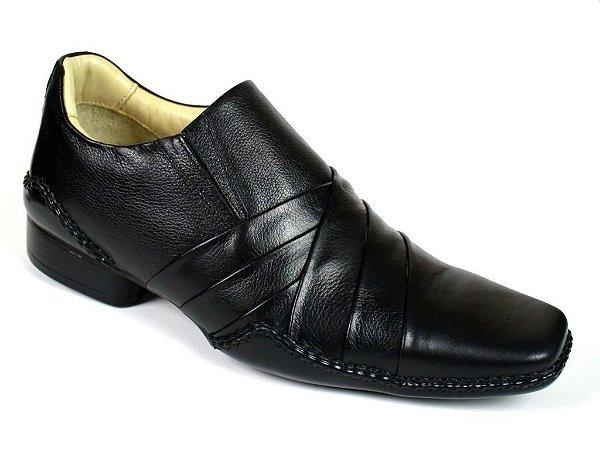 Sapato Preto Social Masculino com Palmilha Gel Confort