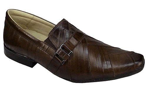Sapato Social Masculino em Couro marrom Alcalay Calçados