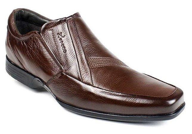 Sapato Masculino Couro Marrom Sola Flexível Nevano
