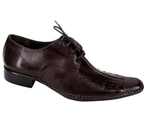 Sapato Social em Couro Pelica Marrom ou Preto com Cadarço