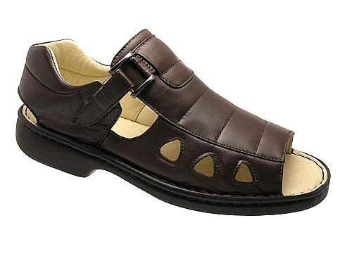 Sandálias Masculinas Confortáveis Pele de Carneiro Palmilha Gel Confort