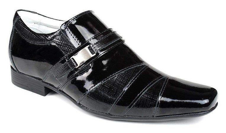 Sapato em Couro Verniz Preto Mafisa Calçados
