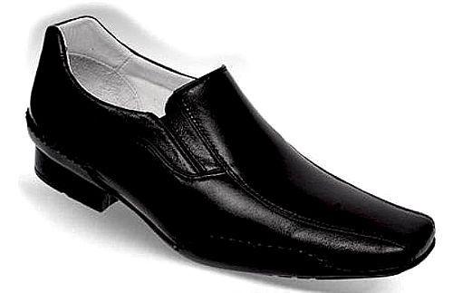 Sapato Masculino Preto em Pelica Sola de Borracha Palmilha Gel Confortável