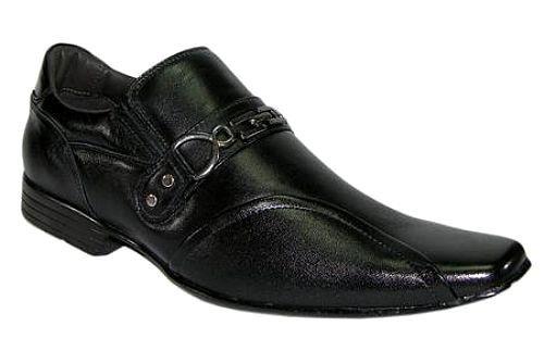 Sapato Preto Estilo Italiano Pelica Mafisa Calçados