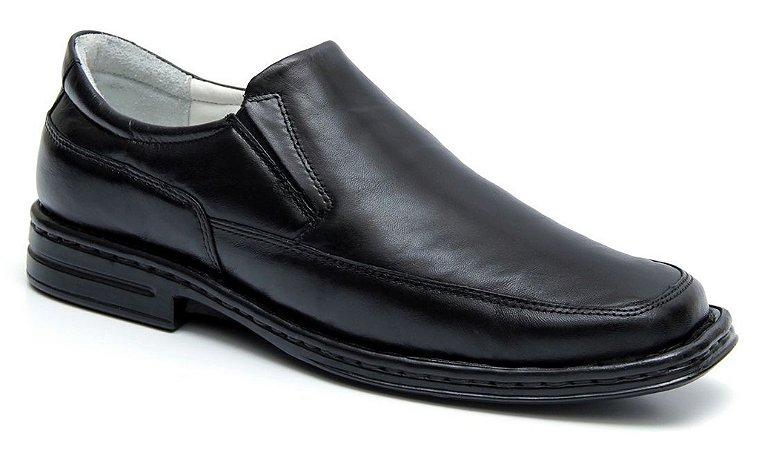 Sapato Preto Masculino Confortável Palmilha com Amortecedor