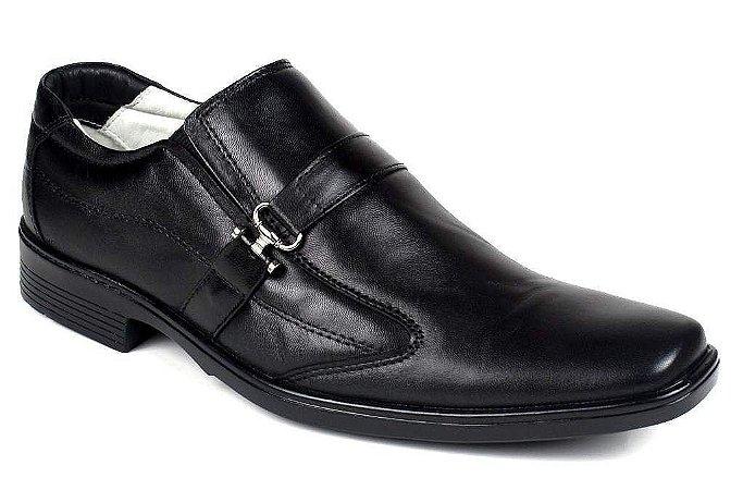 Sapato Confortável Couro Preto ou Marrom Palmilha Gel
