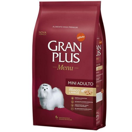 Ração Gran Plus Adulto Mini Frango e Arroz - 15kg