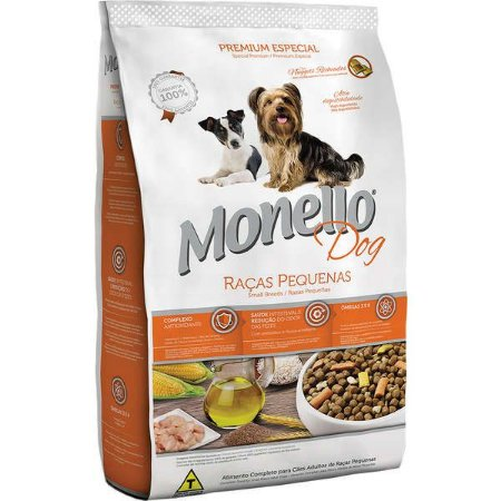 Ração Monello Cães Adultos Pequeno Porte 15 kg
