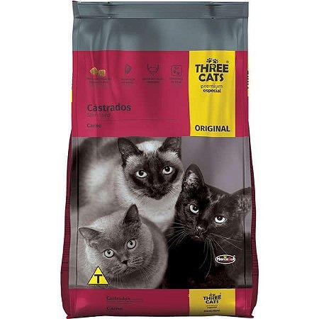 Ração Three Cats Gatos Castrados 10.1 kg