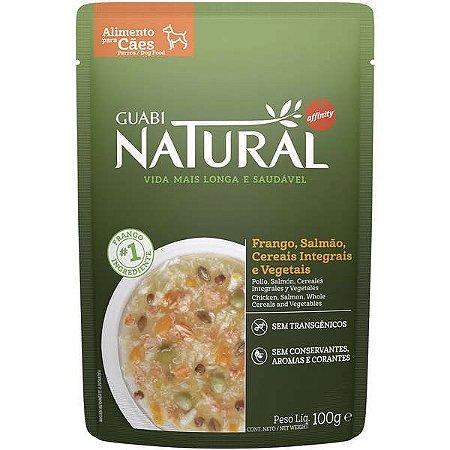 Ração Úmida Guabi Natural Frango, Salmão, Cereais Integrais e Vegetais 100 gr