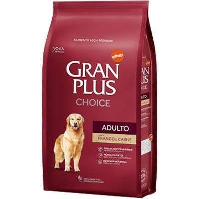 Ração GranPlus Choice Cães Adulto Sabor Frango e Carne 15 kg