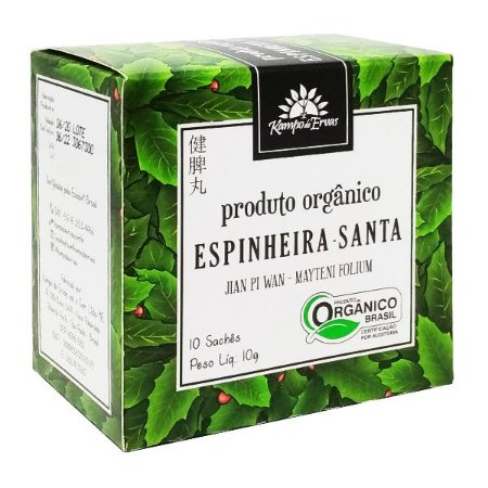 Chá de Espinheira Santa Orgânico (10 sachês) - Kampo de Ervas