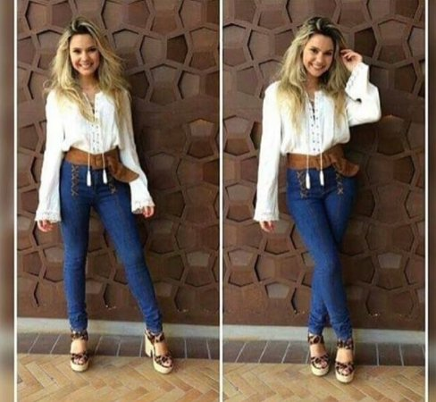 Calça Skinny Jeans Feminina Cintura Alta