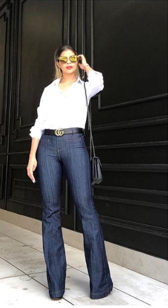 dd3f1f3fa Calça Flare Jeans Feminina. - Loja Bastiana - Roupas e Acessórios