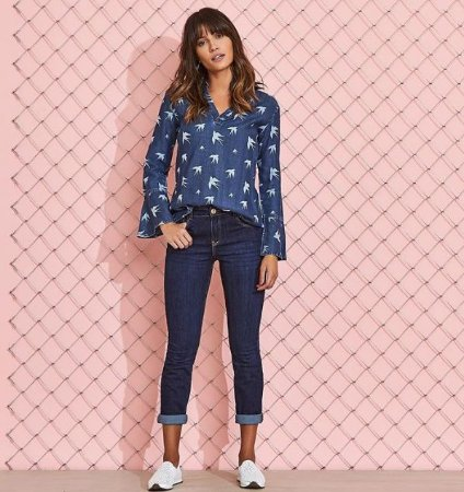 Skinny Jeans Cintura Alta