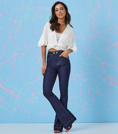 a32d40839 Flare Jeans Feminina - Loja Bastiana - Roupas e Acessórios