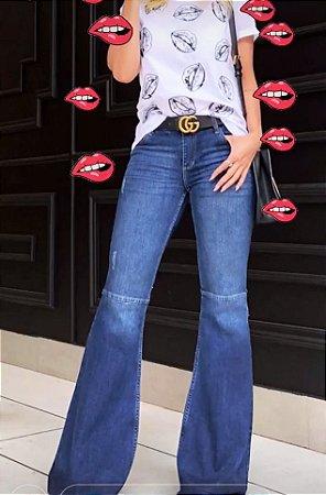 9c2d0da70 Calça Jeans Flare Feminina Cintura Baixa - Loja Bastiana - Roupas e ...
