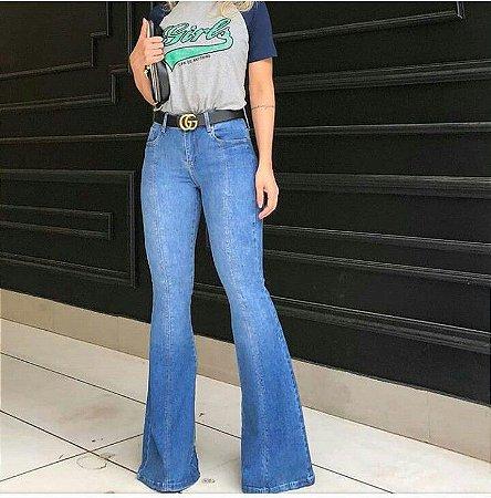 Calça Jeans Flare Cintura media
