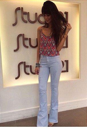 66ae45c22 Calça Jeans Feminina Flare - Loja Bastiana - Roupas e Acessórios