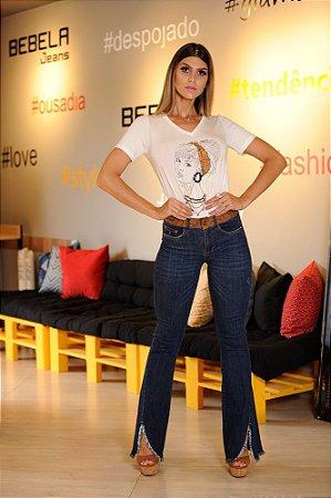 73c09cfa1 Calça jeans Flare Feminina Cintura Alta - Loja Bastiana - Roupas e ...
