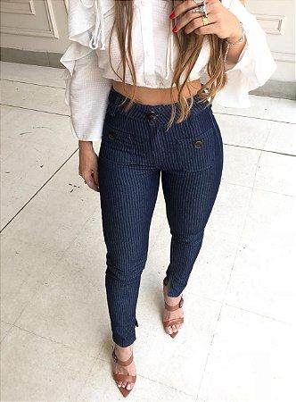 Calça Jeans Skinny Cropped Feminina
