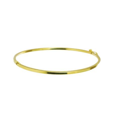 Bracelete Liso Folheado a Ouro 18K