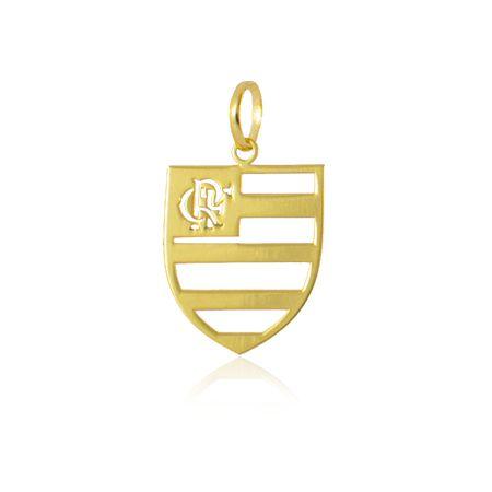 Pingente Flamengo Folheado a Ouro 18K