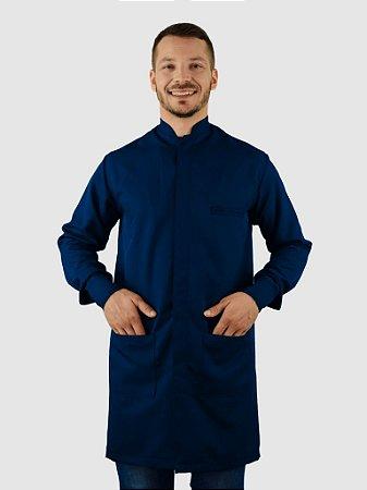 Jaleco Masculino Gola Padre Azul Marinho