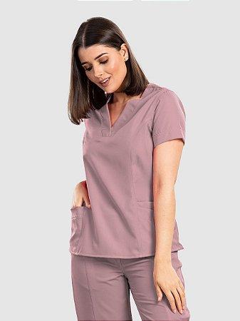 Conjunto Scrub Blusa e Calça Essential Feminino Rosé