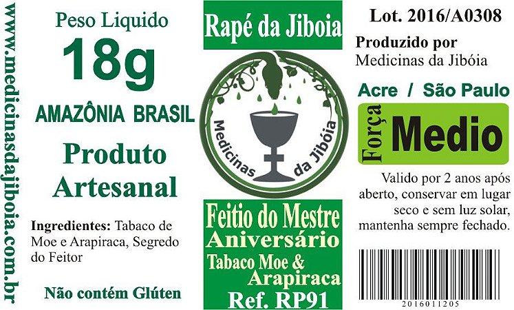 Rapé Feitio do Mestre com tabaco de Moe & Arapiraca
