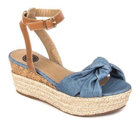 Anabela Jeans Flatform Torquini