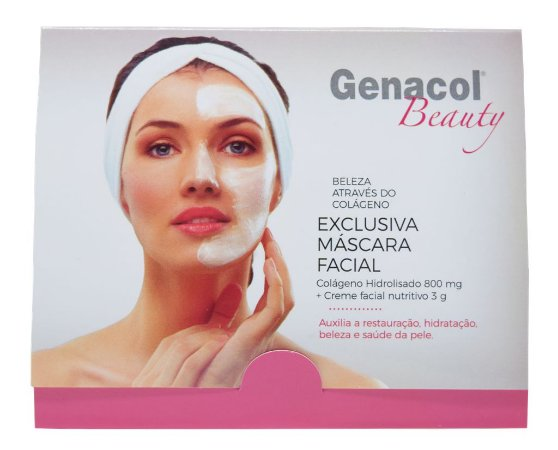Máscara Facial com Colágeno Genacol Beauty (2 sachês)