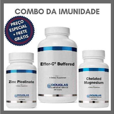 Combo da Imunidade - Effer C Buffered + Zinco (Picolinato) + Magnésio (Quelado)