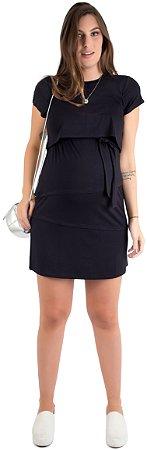 Vestido Amamentação Laura - Preto