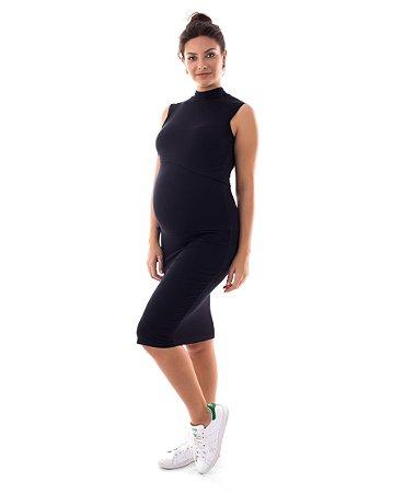 Vestido Amamentação Carmela - Preto