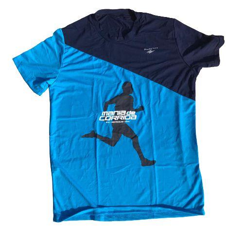 Camiseta Mania de Corrida Azul e Azul Marinho - Special Edition