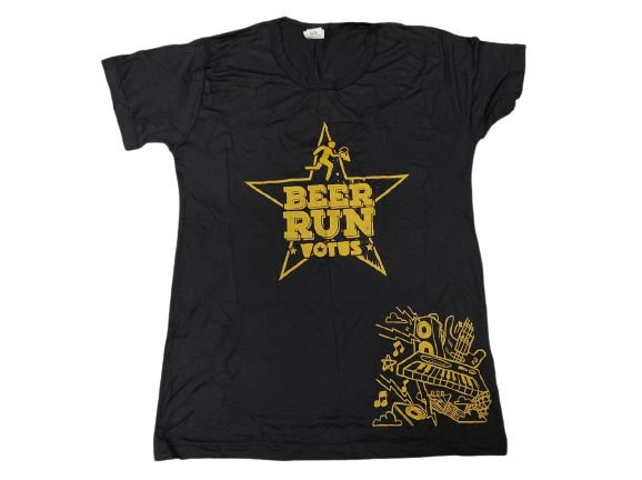 Camiseta Beer Run Preta em Poliamida