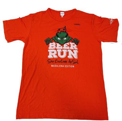 Camiseta Beer Run Laranja em Poliamida
