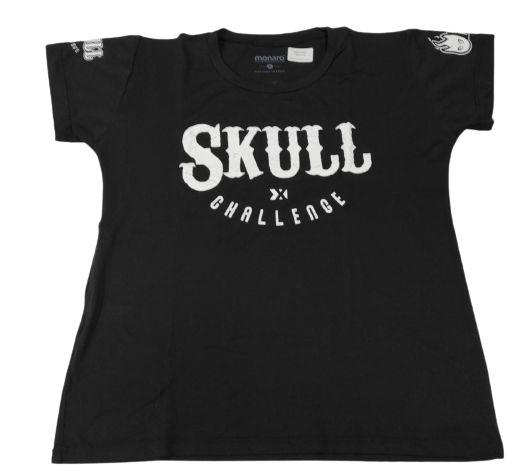 Camiseta Skull Challenge X Preta em Poliamida