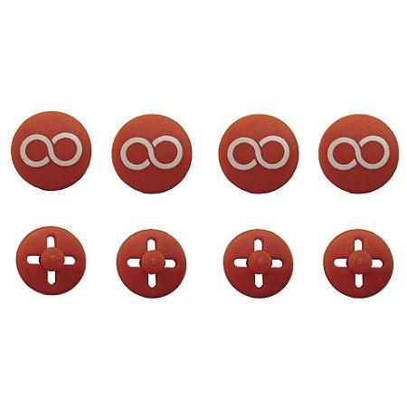 Button LARANJA Prendedor de Número (Substitui Alfinete)