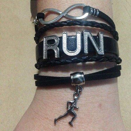 Pulseira Running Corrida Preta