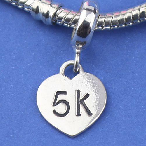 Berloque Coração 5k em Prata 925