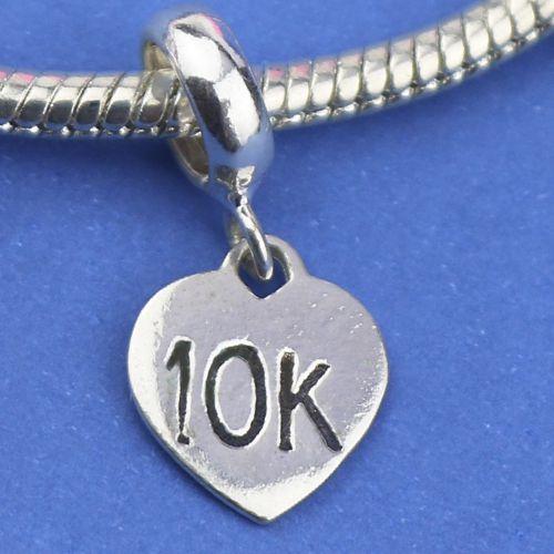 Berloque Coração 10k em Prata 925