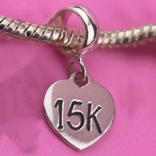 Berloque Coração 15k em Prata 925