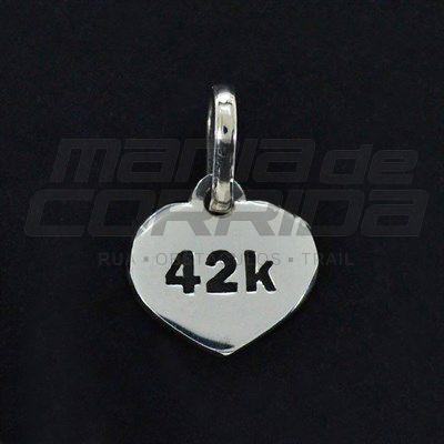 Pingente 42k em Prata 950 - Maratonista