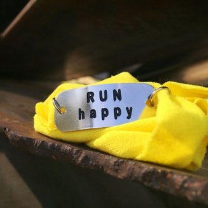 Pulseira Motivacional - Run Happy - Bracelete Amarelo
